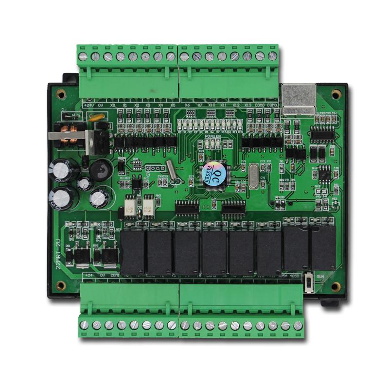 三菱220vplc工控板fx22mrt支持485rs232可编程控制器继电器晶体管