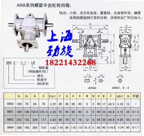 ara系列螺旋錐齒輪轉向箱圖片