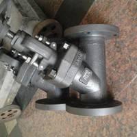 J45H锻钢Y型截止阀 三科阀门