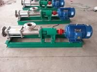 供应G20-1不锈钢单螺杆泵 螺杆泵厂家 泊头优惠的螺杆泵