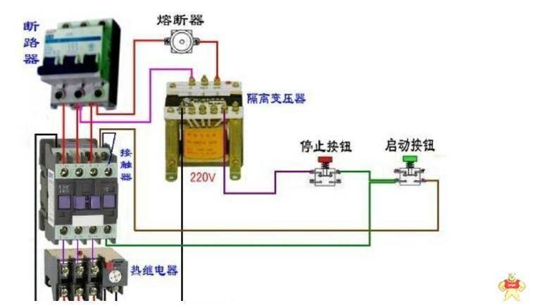 热过载继电器配合接触器接线步骤