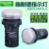 Schneider施耐德指示灯 LED 信号灯 22mm AC220V XB7EVM1LC 白色