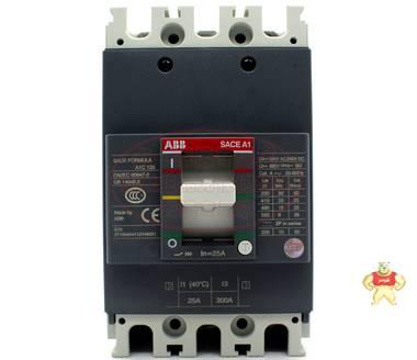 ABB塑壳断路器 A1C125 TMF25/300 FF 3P 25A SACEA1