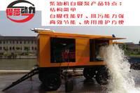 防汛抢险500方凸轮转子移动泵车 拖车式移动排水单元 柴油机水泵