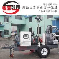 6寸柴油机水泵2寸3寸6寸电启动自吸泵高扬程移动式防汛抽水机