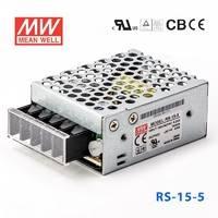 台湾明纬RS-15-5明纬电源15W/5V/3A单路输出 高性能明纬开关电源