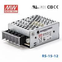 台湾明纬RS-15-12明纬电源15.6W/12V/1.3A单路输出高性能开关电源