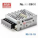 台湾明纬RS-15-15明纬电源15W/15V/1A单路输出高性能明纬开关电源