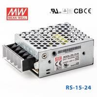 台湾明纬RS-15-24明纬电源15W/24V/0.625A单路输出高性能开关电源
