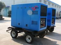 悍莎400A移动式柴油发电焊机带移动拖车