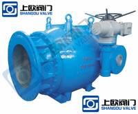 活塞式流量调节阀 电动水利调流调压阀 多功能轴流式控制阀