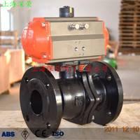 气动碳钢法兰球阀 Q641F-16C气动球阀