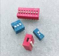 PCB双列拨码开关 红色/蓝色1/2/3/4/5/6/7/8/9/10/12(厂家直销)