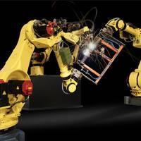淄博市二手简易点焊机器人技术 机械手输送带 理想机器人