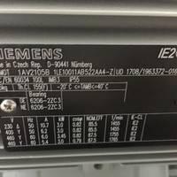 SIEMENS西门子进口电机1LE1001-1AB42-2AA4-Z   2.2KW 4极 B3