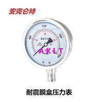 AKLT-YNE100不锈钢耐震微压膜盒压力表 _耐腐蚀膜盒压力表_耐高温膜盒压力表