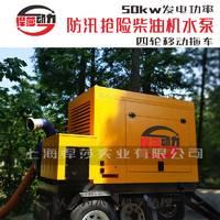 悍莎动力柴油机移动泵车_运用于城市排涝