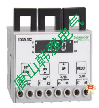 施耐德EOCR(原韩国三和)-数显经济型马达保护器EOCR3EZ-WRMAZ7A 唐山韩雅电气设备有限公司 施耐德EOCR,电动机保护器,马达保护器,电子式继电器,韩国三和SAMWHA