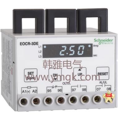 施耐德EOCR-3DM电子式过电流继电器 唐山韩雅电气设备有限公司 施耐德,韩国三和,韩国SAMWHA,电子式继电器,EOCR-DS1