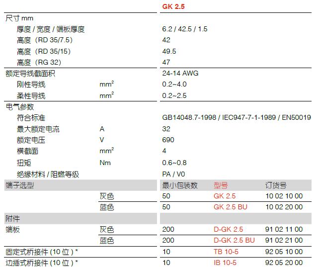 GK 系列通用型接线端子 GK 2.5 霍尼韦尔电气直营店 GK,端子,接线端子,GK 2.5,霍尼韦尔