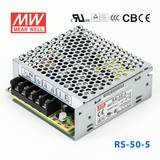 台湾明纬RS-50-3.3明纬电源33W/3.3V/10A单组模块LED明纬开关电源