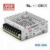 台湾明纬RID-50A明纬开关电源54W/5V6A/12V2A双组输出高耐压电源