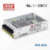 台湾明纬RID-85A明纬开关电源88W/5V8A/12V4A双组输出高耐压电源