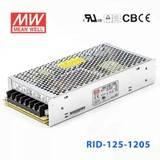 台湾明纬RID-125-1224开关电源133.2W/12V3.7A/24V3.7A双组输出