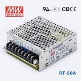 台湾明纬RT-50A开关电源5V/12V/-5V 三组直流输出工业设备驱动