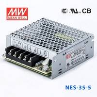 台湾明纬NES-35-15开关电源35W/15V/2.4A单组输出高性能直流稳压