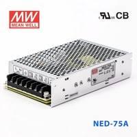 台湾明纬NED-75A开关电源71W/5V7A/12V3A 经济型工业双组输出电源