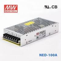 台湾明纬NED-100A开关电源100.4W/5V10A/12V4.2A工业双组输出电源