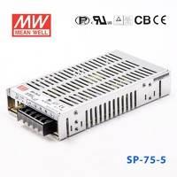 台湾明纬SP-75-3.3小体积主动式PFC恒流LED开关电源50W/3.3V/15A