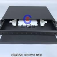 【昌泽通信主营】ST抽拉式光纤终端盒  1U加厚冷轧板