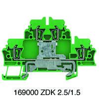 ZDK 2.5PE 正品魏德米勒弹簧系接线端子1690000000双层接地端子