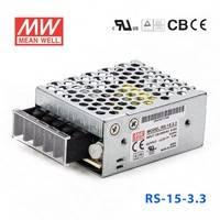 原装正品台湾明纬电源RS-15-3.3 15W 3.3V3A 单路输出明纬开关电源