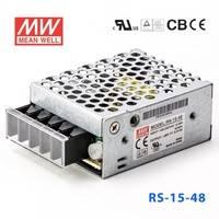 台湾明纬电源RS-15-48 15W 48V0.313A 单路输出明纬开关电源