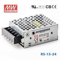原装正品台湾明纬电源RS-15-24 15W 24V0.625A 单路输出明纬开关电源