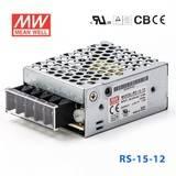 台湾明纬电源RS-15-12 15W 12V1.3A 单路输出明纬开关电源
