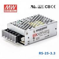 原装正品台湾明纬电源RS-25-3.3 25W 3.3V6A 单路输出明纬电源