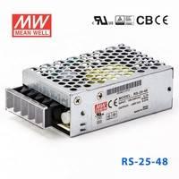原装正品台湾明纬电源RS-25-48 25W 48V0.57A 单路输出明纬电源
