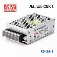 原装正品台湾明纬电源RS-25-5 25W 5V5A 单路输出明纬电源