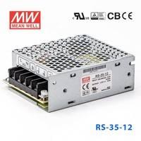 原装正品台湾明纬电源RS-35-12 35W 12V3A 单路输出明纬开关电源