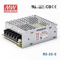 原装正品台湾明纬电源RS-35-5 35W 5V7A 单路输出明纬开关电源(