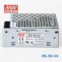 原装正品台湾明纬电源RS-50-24 50W 24V2.2A 单路输出MEAN WELL明纬开关电源