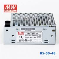 原装正品台湾明纬电源RS-50-48 50W 48V1.1A 单路输出明纬开关电源