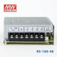 正品明纬电源RS-100-48 100W 48V2.3A 单路输出明纬电源(G3系列-高性能内置有外壳)