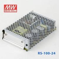 正品明纬电源RS-100-24 100W 24V4.5A 单路输出明纬电源(G3系列-高性能内置有外壳)