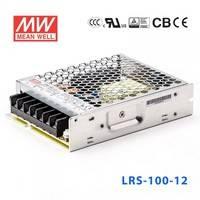 正品台湾明纬电源LRS-100-12 102W 12V8.5A单路输出超薄型低空载损耗明纬开关电源
