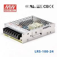 正品台湾明纬电源LRS-100-24 108W 24V4.5A单路输出超薄型低空载损耗明纬开关电源